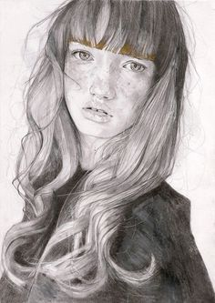 Faces of Fashion by Adrien Patout, Illustration, Art, Drawing