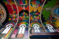 church, color, rainbow, bright, face