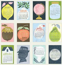 2014 Oversized Wall Calendar HUGE with wood hanger door 1canoe2 #calendar #design #graphic