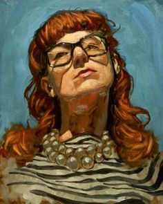 Demekin The Tumblr #glasses #girl #redhead #painting #with