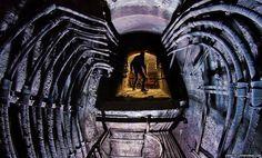 Man inside an underground passageway #photography