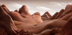 Faith is Torment | Art and Design Blog: Bodyscapes: Photos by Carl Warner #bodies #nude #flesh #photo #sex #anatomy #skin #human #navel #manipulation #surreal #valley