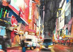 christopher st. leger - deviatory #urban #city #lights #painting #leger #neon
