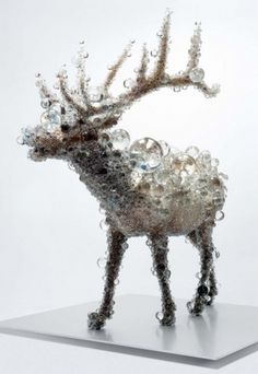 Crystal Bead Taxidermy by Kohei Nawa