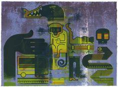 FFFFOUND! | supersonic electronic / art - Harry Diaz. #diaz #harry #print #screen #animals