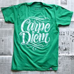 T-shirt printing & design inspiration: Typographic t-shirts #shirt #typography