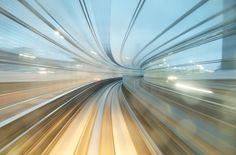 Yurikamome Line / AppuruPai | Photographie #train #speed #photography #art #japan