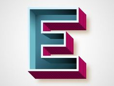 Dribbble - E by Chris Rushing #caps #dropcap #lettering #letters #initial #type #typography