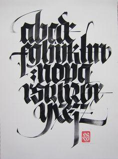 Black Letter alphabet #lettering