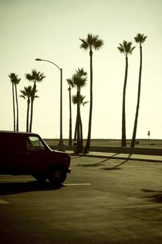 GILES LAMBERT. PHOTOGRAPHY. #van #beach #car #california #sunset