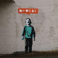CJWHO ™ (not banksy by banksy noone likes me CJWHO:...) #instagram #streetart #design #banksy #illustration #art