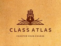 Dribbble - Class Atlas Logo Design (WIP) by Dalius Stuoka #branding #book #texture #ship #pen #logo