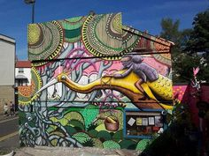 Artist Phlegm colorful art #abstract #surrealism #art #street #surreal