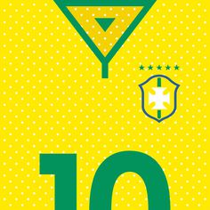Brazil Verde-Amarela #flat #swiss #world #design #clean #shirts #nations #sports #football #cup #futbol