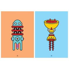 Monster Totem Series Vol:4 #monster #illustration #vector