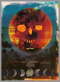 Novelty Cross// #destroyer #atomic #colorful #poster #skull #death