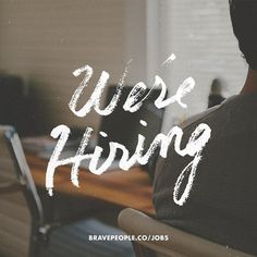 We're hiring a Web Developer! Apply at http://bravepeople.co/jobs #lettering #hand #texture #people #photography #made #type #brave #web #typography