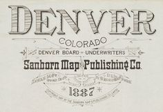 Denver, Colorado 1887 #type
