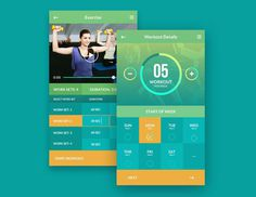 Fitness Mobile App UI