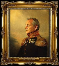 Modern Celebrities Photoshopped into Old Russian Generals - My Modern Metropolis #bill #illustration #portrait #patriotic #murray #epic #general
