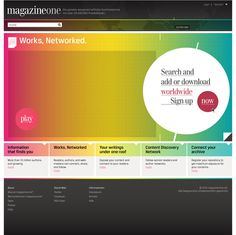 magazine.One on the Behance Network #layout #colour