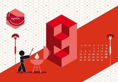 Calendario Algoritmo 2013 by o-zone , via Behance #vectors #illustration #vector #illustrated