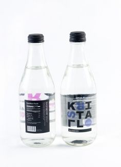 Kristall Soda - Amanda Jane Jones #packaging #type #water #bottle