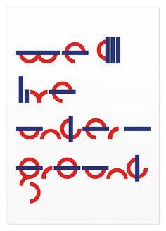 We All Live Underground (1), Sawdust #sawdust #experimental #underground #typography
