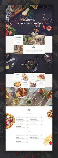 ui ux web design #food #restaurant #website #webdesign #web