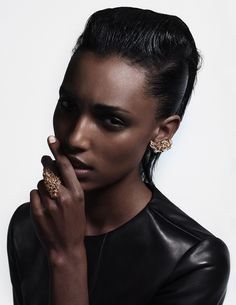 Jasmine Tookes by Gustav Hallmer for Intermission Magazine #fashion #photo #leather
