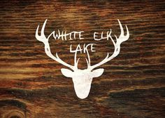 Branding 10,000 Lakes #antlers #design #elk #wood #lake #logo
