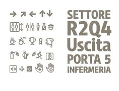Leftloft, we are an italian design company / Projects / Stadio San Siro #icon #signage #pictogram #leftloft