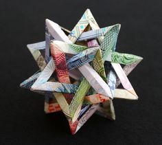 Intersecting Star #origami #currency #star