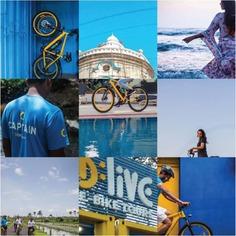Our vibrant e-bikes easily become their masters' blue eyed boys in no time. No kidding. #letsblive #funoverfuel #fun #ev #ecotourism #eco #tours #ebikes #discovery #goavibes 🌴 #goatourism #goaindiatravel #travel #instatravel #instagoa #wanderlust #navratri #navratriwear #shadesofBLive #wednesdayvibes #bluesky #bluesea