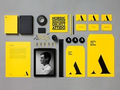Attido on the Behance Network #branding #yellow #identity #collateral #stationery #letterhead