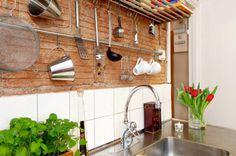 Den ofärdiga stilen stark – tegelvägg i köket nästa trend   Sköna hem
