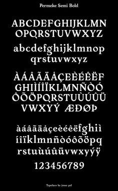 Permeke Semi Bold by Josse Pyl #typography #typeface #font