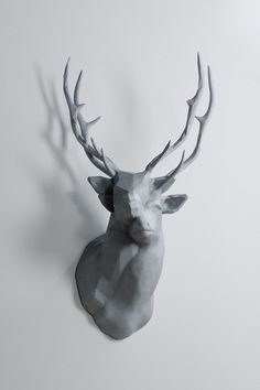 polygon-double-deer-2.jpg (600×900) #sculpture #art