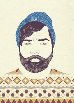 A man with a beard #illustration #vector #hipster