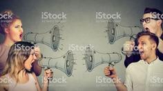 Quarrel between women and men - Royalty-free Debate Stock Photo