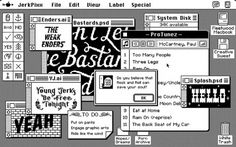 DAN CASSARO - YOUNG JERKS - Design/Animation/Illustration #apple #retro #pixels #mac