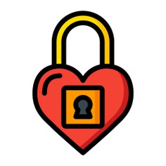 See more icon inspiration related to like, love and romance, valentines day, loving, lover, heart lock, heart, peace, interface, lock and shapes on Flaticon.