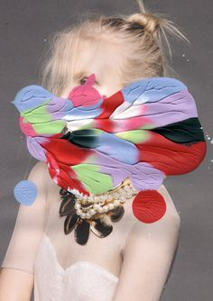 Painting Please! Leslie David #fashion #photography #collage #painting