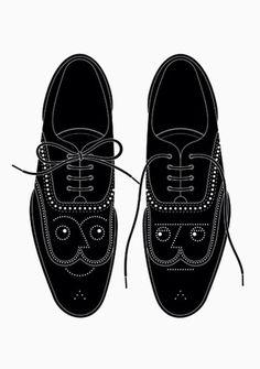 RINZEN . Double Glazed #illustration #shoes #faces