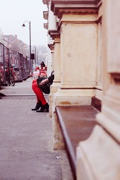 February in London #red #london #legs #digital #photography #street