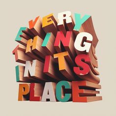 Everything In Its Place - David Mcleod #typography