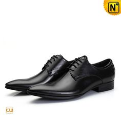 Black Italian Leather Oxford Shoes for Men CW762012 #shoes #leather #oxford