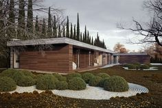 L-shaped House and Garden