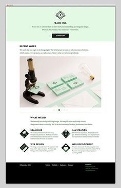 I see mint / Frame Inc #website #layout #design #web