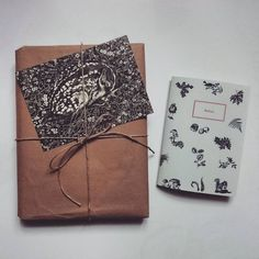 Handdrawn postcard and notebook with forest elements by Lara Bispinck  #deer #present #graphicdesign #sleeping #autumn #notebook #paper